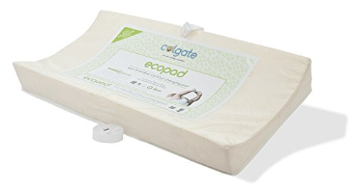 "Colgate EcoPad 2-Sided Contour Changing Pad - 33"" x 16"" x 4"" with Damask Cloth Waterpoof Cover, Natural"