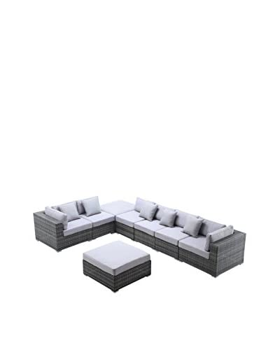 Ceets Slater 8-Piece Outdoor Conversation Set, Mixed Grey/White