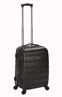 Rockland Melbourne 20-Inch Expandable Abs Carry On Luggage - Black