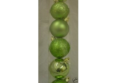 Pack of 10 60mm Lime Green Baubles