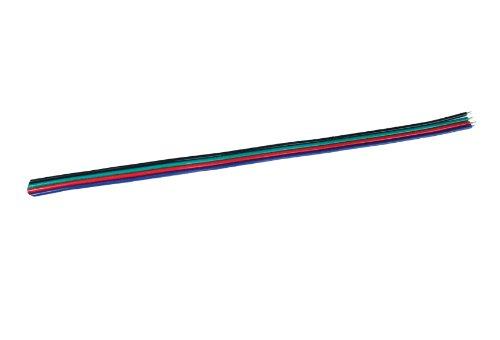 20 Meter langes 4 Pol RGB Kabel 4x0,6mm Verlängerung für RGB LED Streifen Strip Leiste Band (20m)