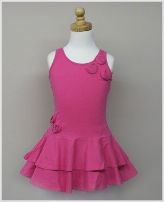 Girl and Company *Escape* Miami Fuschia Dress With Flowers 5y