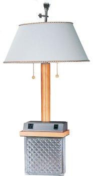 desk lamp w data port power outlet table lamps. Black Bedroom Furniture Sets. Home Design Ideas