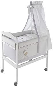 Naf-Naf Square Mini-Cot, Textiles and Mosquito Net (Jungle, White)