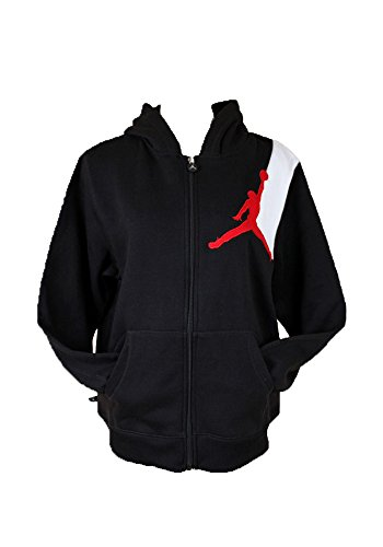 c76223eb535f66 Jordan Boys Nike Jumbo Jumpman Full Zip Hoodie Black XL - Billy P ...
