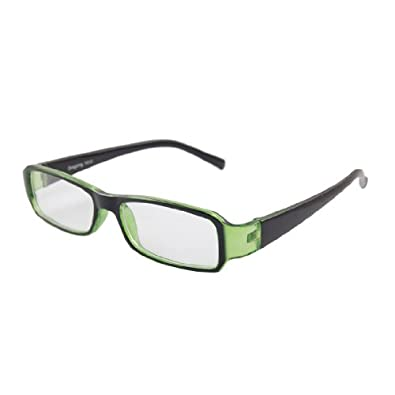 Amazon.com: Plastic Full Frame Arms Plain Plano Eyeglasses Clear Green