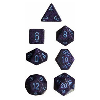 Polyhedral 7-Die Chessex Dice Set - Speckled Cobalt