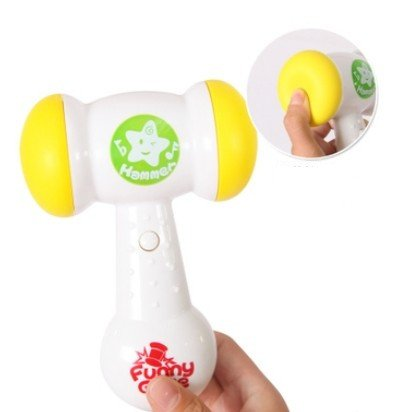 Big Dragonfly Children's Fun Electric Music Sound Play Hammer Educational Striking Toy for Baby & Toddler Improve Baby's Operation Ability