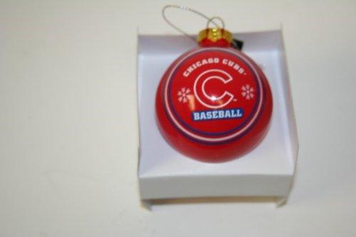 Forever Collectibles MLB Chicago Cubs Authentic Collection Glass Ball Ornament