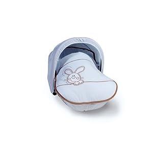 BOLIN BOLON - 1027544011200 - Habillage universel PETIT LAPIN pour porte-bébé et siège groupe 0 - Bleu ciel - 75x55