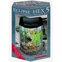 Seamless Integrated Aquarium System – 5 Gallons, Hex
