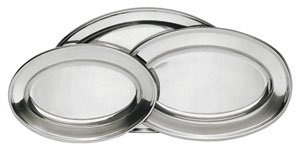 NEW, Stainless Steel Serving Platter Set, Serving Tray Set, Oval-Shape, Catering Party Tray, Hors d'oeuvres Tray, Horderve Tray, Commercial Quality - 3 Sizes
