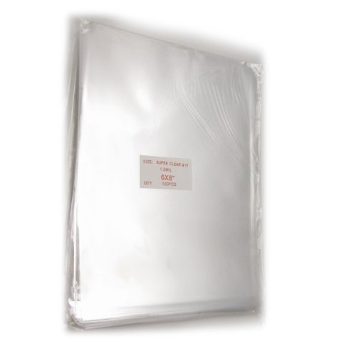 100X Clear Flat Cello/Cellophane Treat Bag 6X8 Inch(1.2Mil) Gift Basket Supplies
