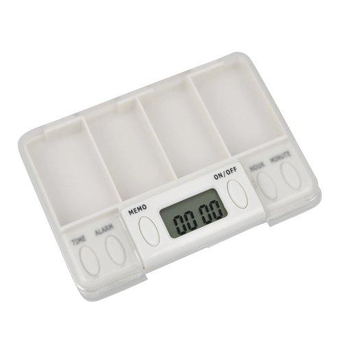 "Electronic Digital Medicine Box Reminder, 1"" White"