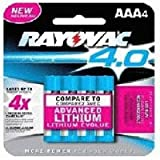 "Rayovac 4.0 Rechargable ""AAA"" Batteries, 4-Pack"