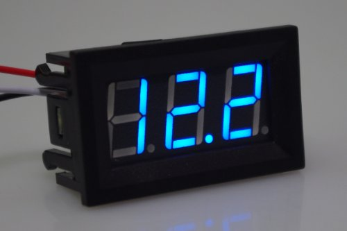 """Smakn 3 Digits 0.56"""" 3 Wire Dc 0-100V Blue Led Digital Voltmeter Voltage Display Module With Reverse Protection"""