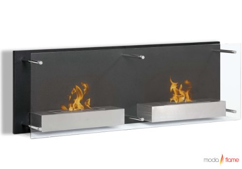 Moda Flame Faro Wall Mounted Bio Ethanol Ventless Indoor Fireplace Non Gel image B00BCPATYE.jpg