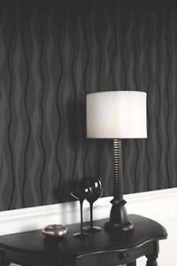 Arthouse Glitz Wallpaper - Black from New A-Brend