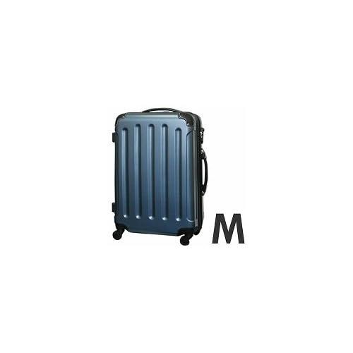 gowell(ゴーウェル) ダブルファスナー搭載!MOAスーツケース ジッパー四輪エンボス260「7~10泊目安」 オーシャンブルー Mサイズ 8011