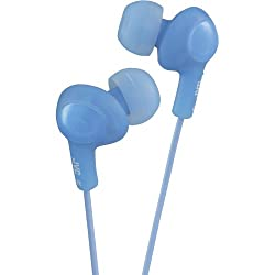 JVC HAFX5A Gumy Plus Inner Ear Headphones (Blue)