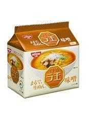 日清 ラ王 袋麺 味噌味 5食パックx6パック ケース