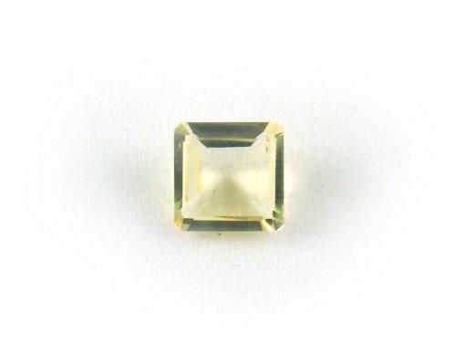 LX0034 Citrine Square Shape Unset Loose Natural Gemstone