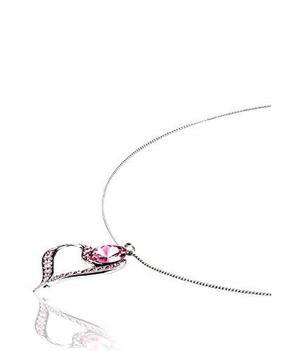 SWAROVSKI ELEMENTS Collana Heart Rosa
