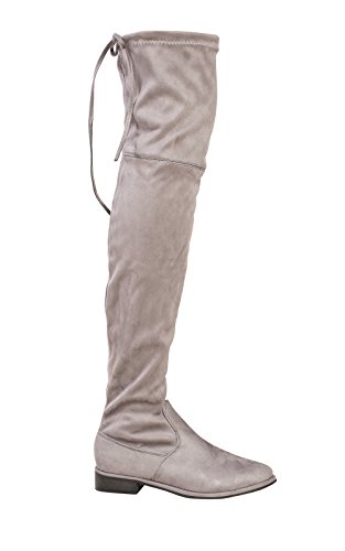 Women's Ladies Stunning Faux Suede Knee High Boots