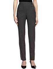 Twiggy for M&S Collection Zipped Straight Leg Trousers with New Wool