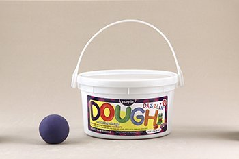Dazzlin Dough Purple 3 Lb Tub -- Case of 3