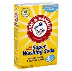 2 Boxes (55Oz Ea) Arm & Hammer Super Washing Soda Detergent Booster & Household Cleaner front-34988