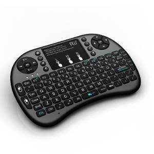 Rii I8+ Wireless 2.4Ghz Mini Keyboard For Google Android Devices, Black