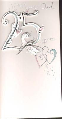 Mum & Dad 25th Anniversary ( Silver), Anniversary Greetings Card