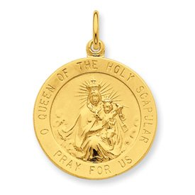 Sterling Silver & 24k Gold -plated Our Lady of Guadalupe Medal