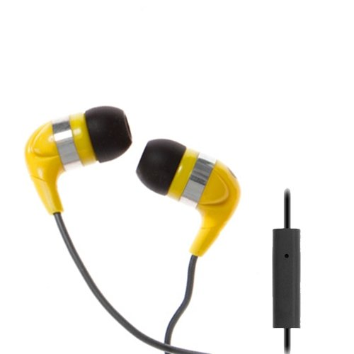 Wicked Wi2154 Jaw Breaker With Mic Earbud - Yellow