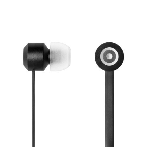 Tenqa Bullsyes In-Ear Earbud Style Hi-Def Headphones With Mic And Remote For Android, Iphone, Ipad, Smartphones -- Black