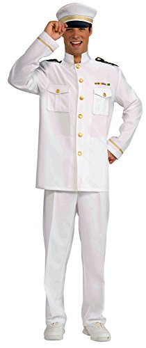 Enimay Men's White Navy Officer Jacket Halloween Costume Adult Size