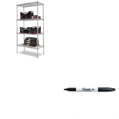 KITALESW503618SRSAN30001 - Value Kit - Best Wire Shelving Starter Kit (ALESW503618SR) and Sharpie Permanent Marker (SAN30001)