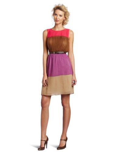 Julie Dillon Women's Colorblock Shift Dress With Belt