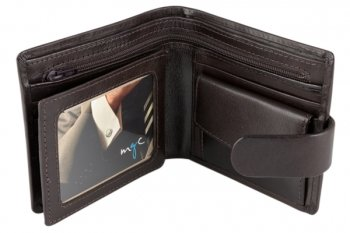 Malmo Men's Traditional Lined Leather Wallet Black