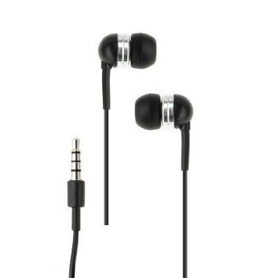 Fosmon Earbud Stereo Headset With Mic And Answer / End Call Button For Htc Droid Dna, Incredible 4G Lte, Incredible 2, Thunderbolt, Rezound - Black
