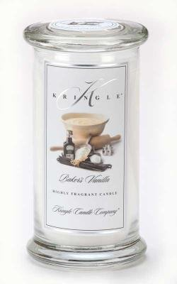Bakers Vanilla scented candle lg apothecary jar
