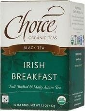 CHOICE ORGANIC TEAS TEA,OG2,IRISH BREAKFAST, 16 BAG