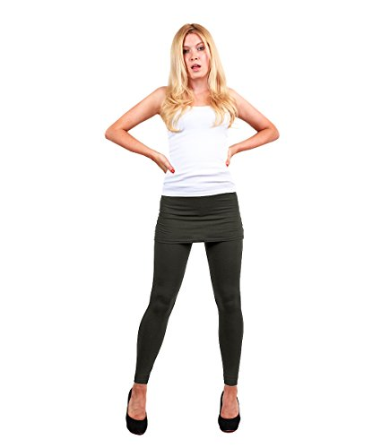 Modadorn Spring Summer Solid Skirt Charcoal Leggings Fashion / Clothing / Accessories front-1040332