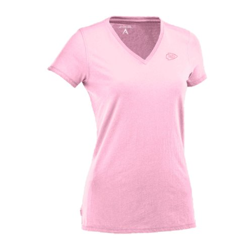 NFL Women's Kansas City Chiefs Dream Jersey Tee (Mid Pink, Small) Amazon.com