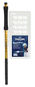 Swiftstik 30-inch Youth Size Hand Eye Training Bat with 12 Golf Size Practice Balls... by Spalding