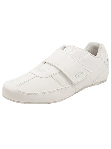 Lacoste Men's Protected PRM Fashion Sneaker, White/White, 7.5 M US