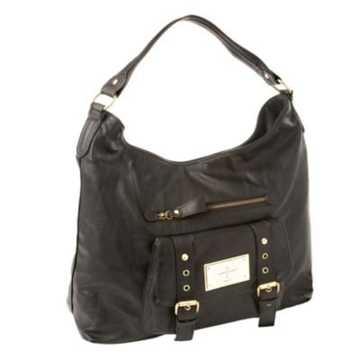 J Jeans by Jasper Conran-Black 'Debbie' double buckle hobo bag