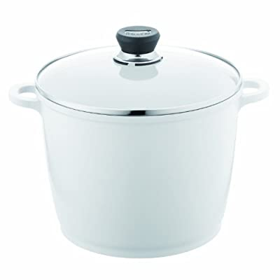 Berndes 697614 SignoCast Pearl Ceramic Coated Cast Aluminum 7-Quart Covered Stock Pot