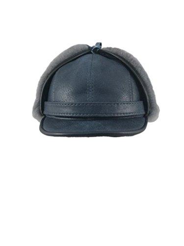 Zavelio Women s Shearling Sheepskin Elmer Fudd Earflap Trooper Visor Hat 4ba51691e7cb